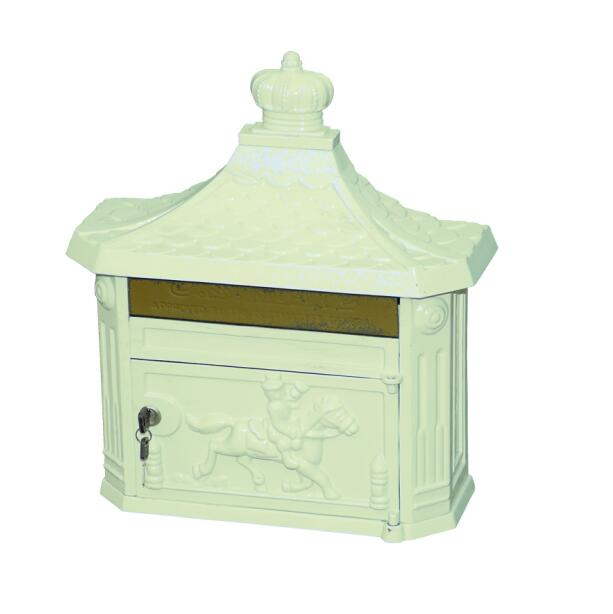 white color cast iron mailbox cast iron letter box