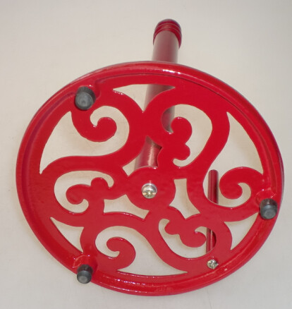 New fashionable high quality cast iron red paper towel holder