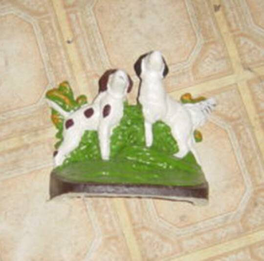 high quality double dogs cast iron door stop