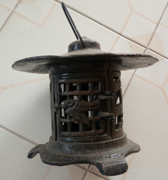 black painted cast iron lantern Featured Image