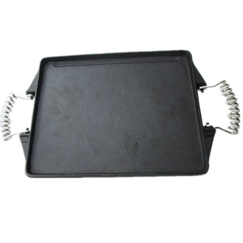 Preseasoned cast iron griddle pan grill pan cast iron cokware