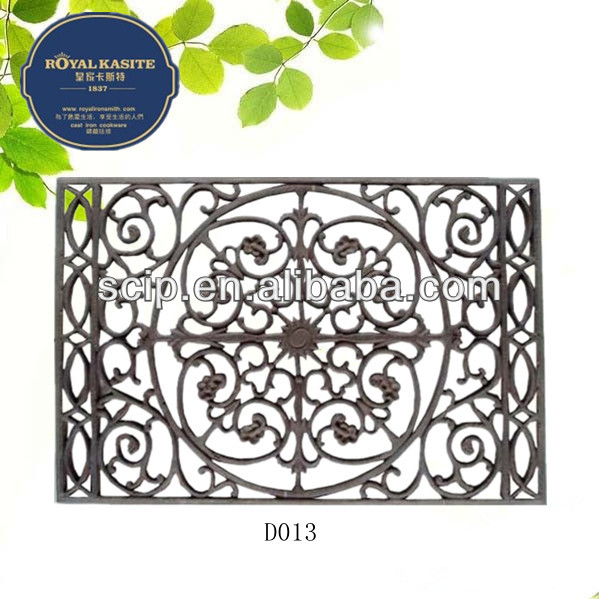 high quality Cast Iron Door Mat Rectangular style flower shape