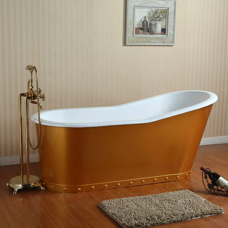 Cast Iron Bathtub with Steel Skirt