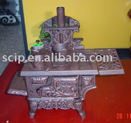hand-made cast iron mini antique stove