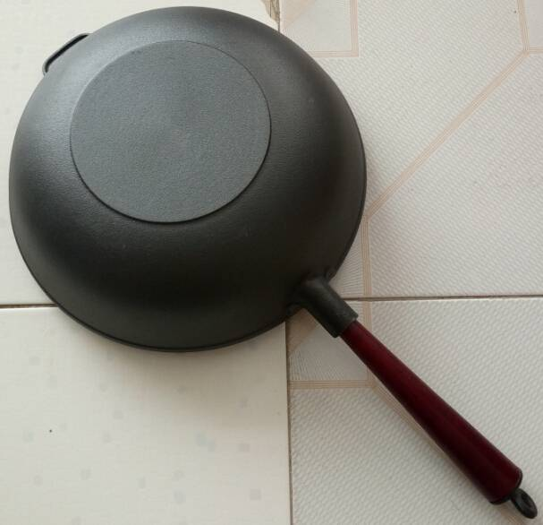 hot sale FDA certification preseasoned cast iron wok