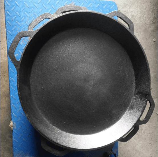 17 inch cast iron preseasoned pan pizza stone two handles