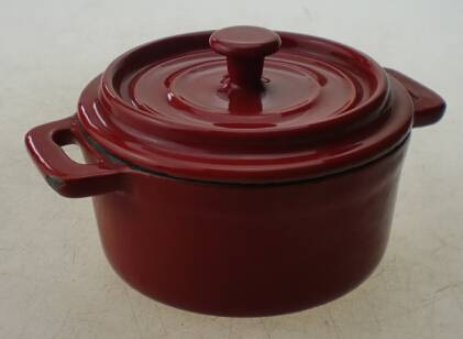 Metal,cast iron Material and Eco-Friendly,Stocked Feature 4 inch cast iron mini casseroles