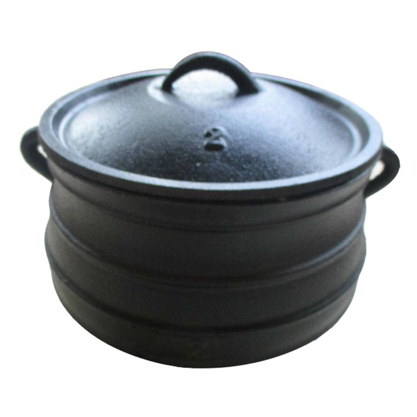 South Africa belly-shaped cas iron flat bottom cauldron pot