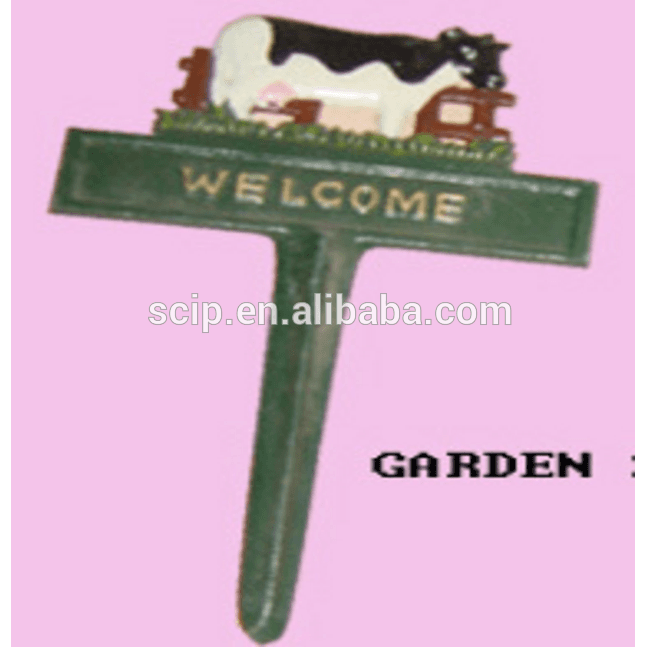 cow welcome cast iron garden ornaments