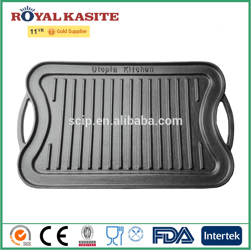 newest retangular cast iron baking pan