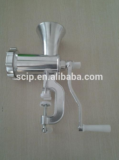 hand-operated meat mincer, aluminium meat grinder