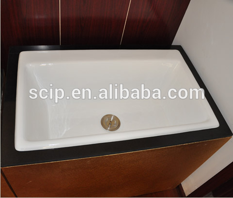 hot selling square enameled cast iron countertop sinks,cast iron countertop sinks