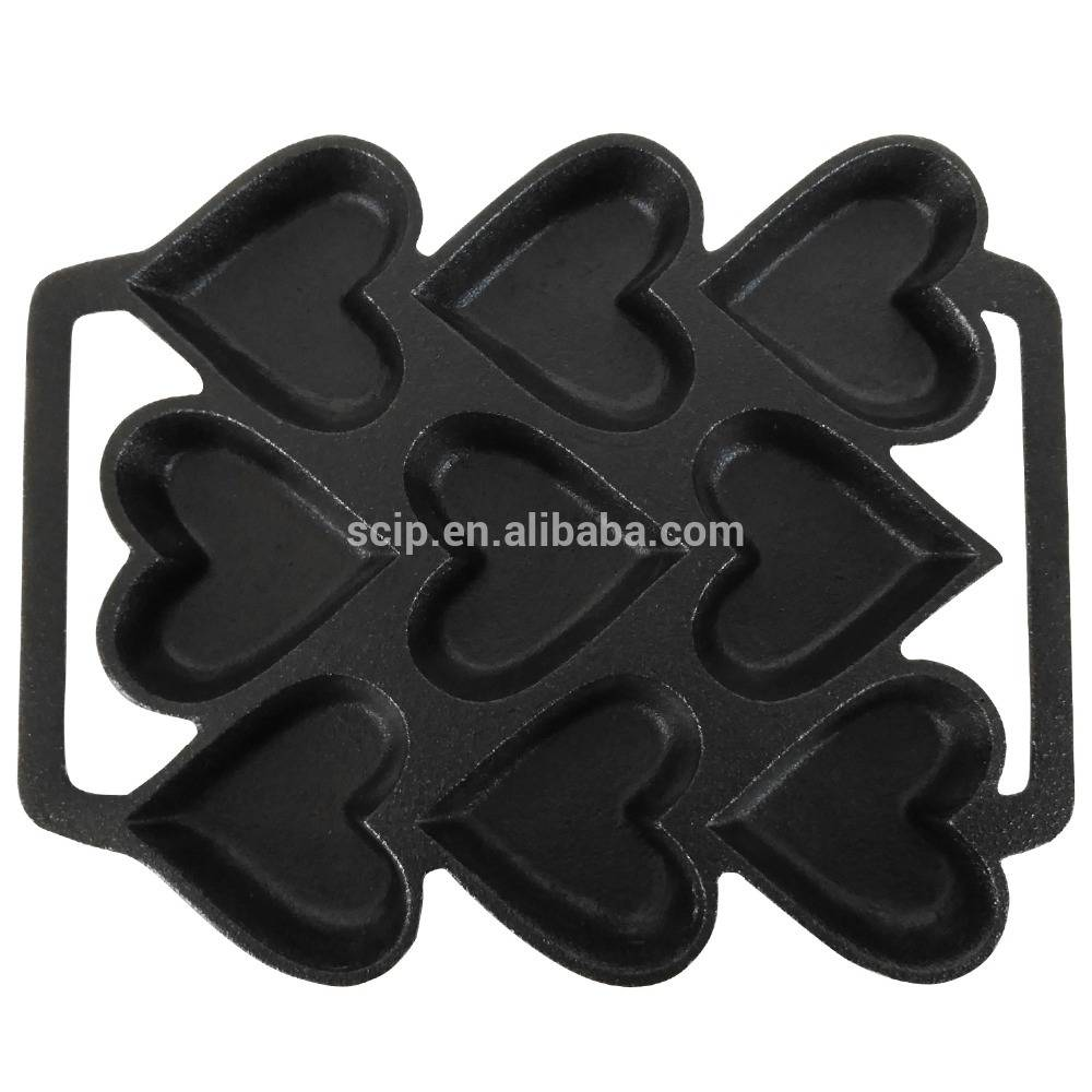Cast Iron Heart Shaped Cake Pan – 9 x 7.5 Inch