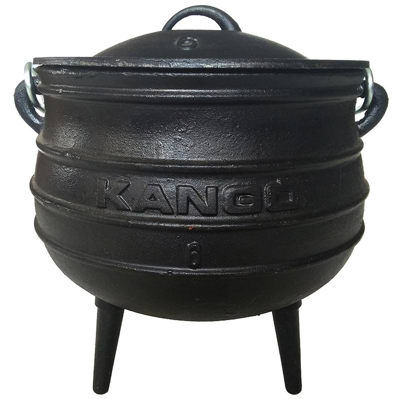 Camping Three Legged Large Cast Iron Fire Potjie