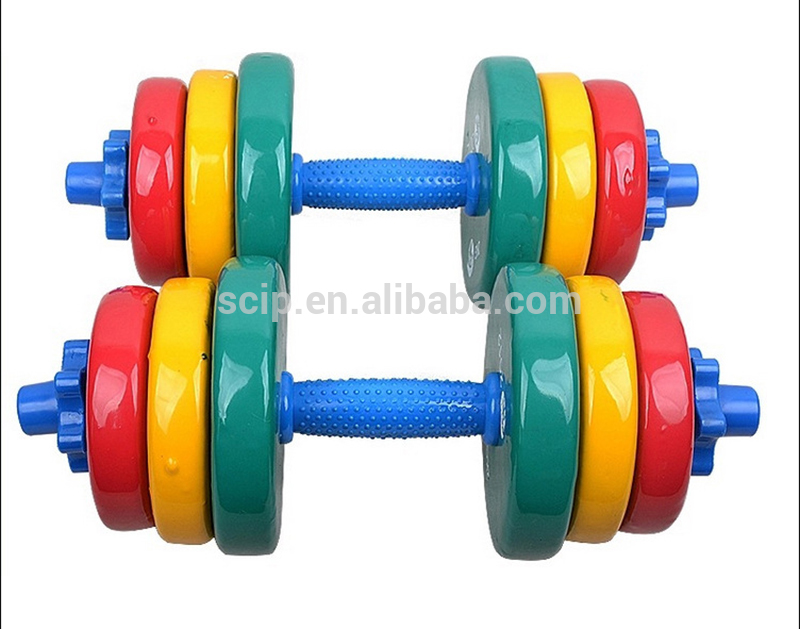 high quality dip plastic gym dumbbell / adjustable dumbbell/ rubber