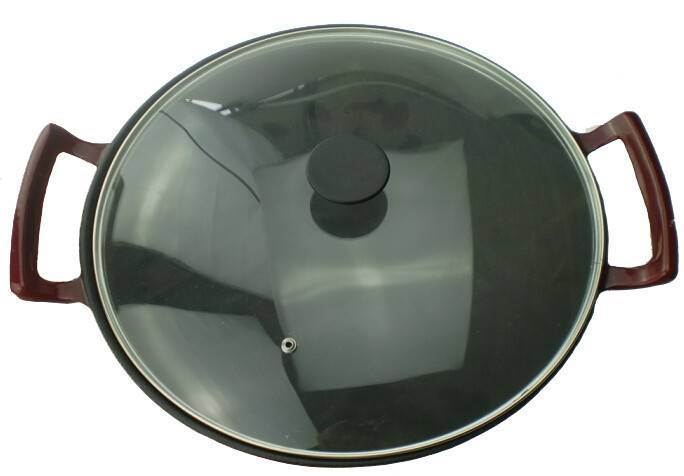 Cast Iron Shallow Concave Wok, Black – by Utopia Kitchen