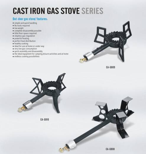 triple stand cast iron gas burner