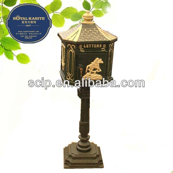 antique cast iron mail box for usa market