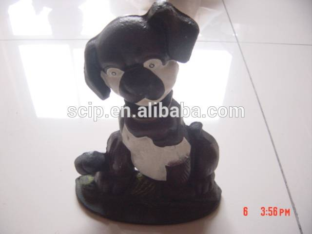 cast iron door stop of a dog sculpture