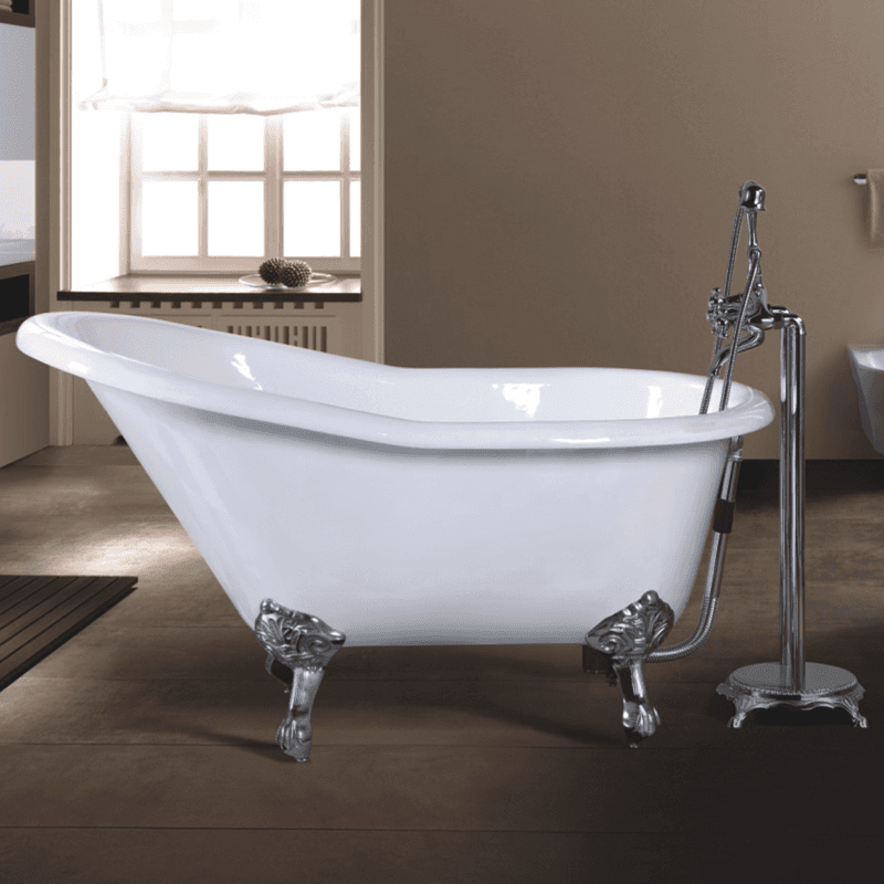 soaking acrylic freestanding cast iron bathroom tub