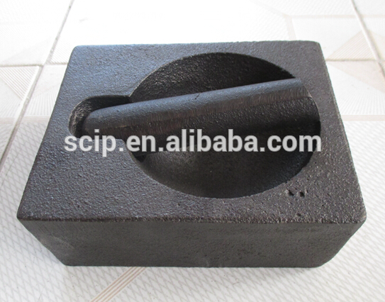 square cast iron mortar and pestle