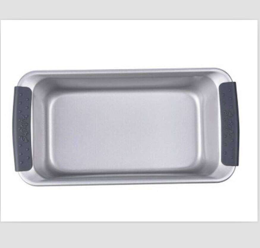 good quality non-stick carbon steel bake pan with silicon handle