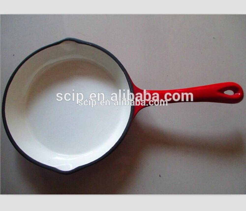 red enameled cast iron round fry pan cast iron skillet