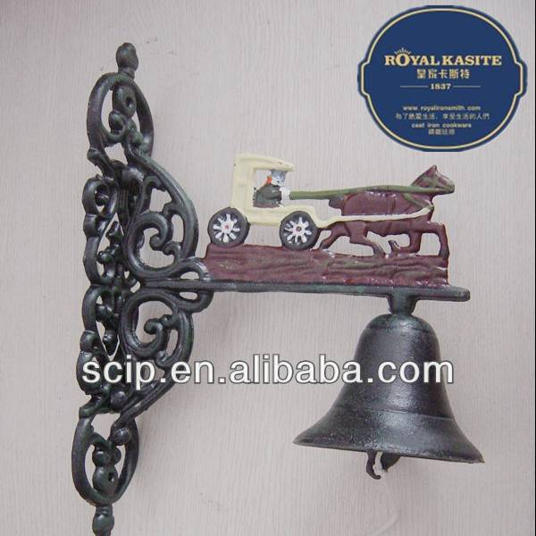 35cm big carriage Cast iron dinner bell for usa