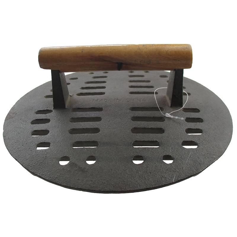 BBQ grill Cast Iron Slotted Steak Press