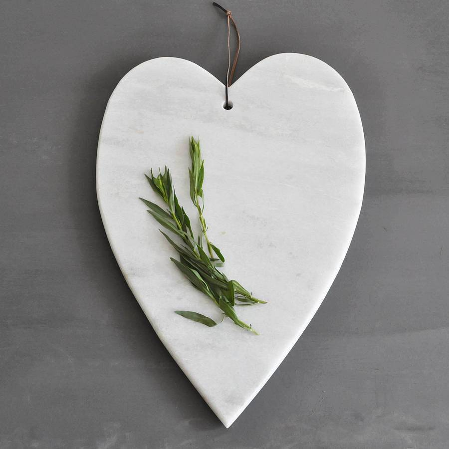 cheap high quality heart-shaped white marble chopping board