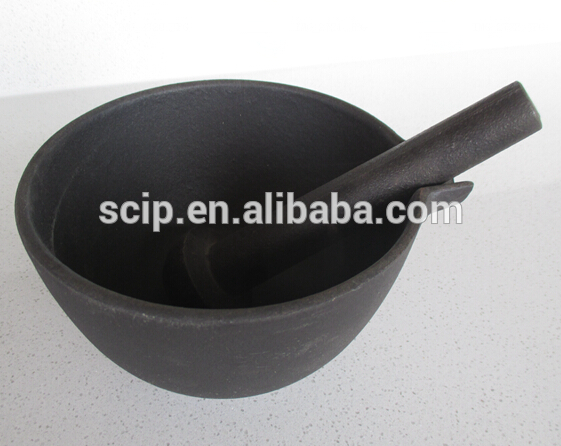 manufacturer supply cast iron mortar and pestle