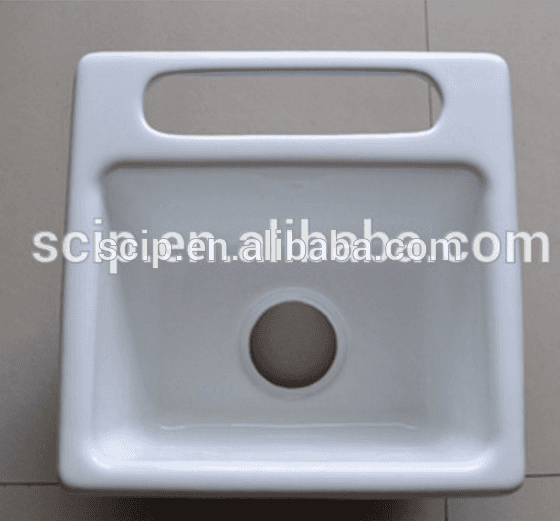 hot selling square enamel cast iron countertop sinks