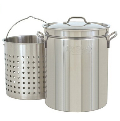 44-Quart All Purpose Stainless Steel Stockpot with Steam and Boil Basket