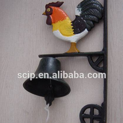 high quality rooster cast iron dinner bell