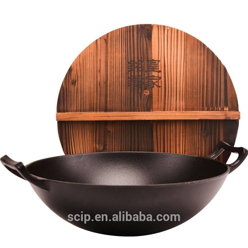 hot sale cast iron wok, 2014 newest cast iron wok