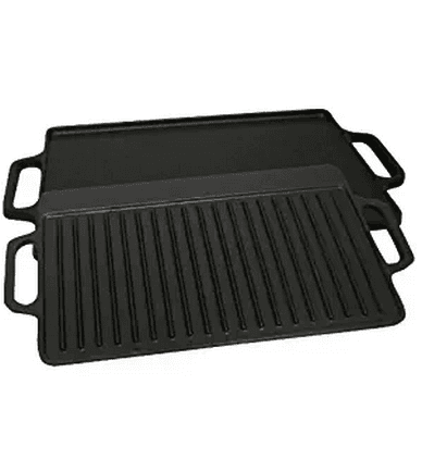 Pre-seasoned Cast Iron 2 Sided Griddle, 15.75-Inch