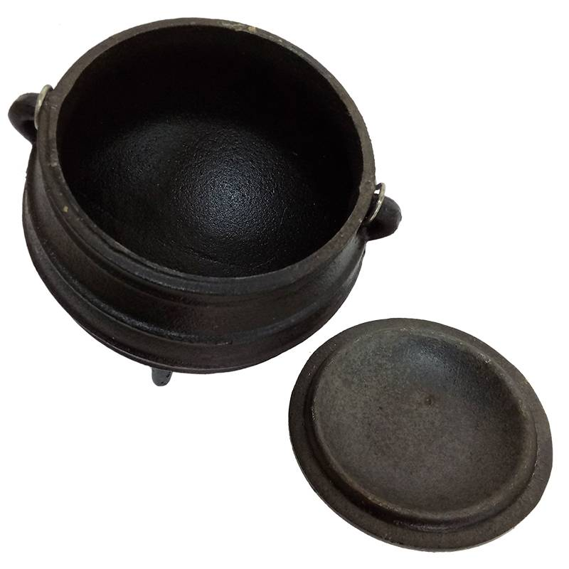 3 legs BBQ cast iron mini potjie