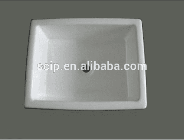 square hot selling enameled cast iron countertop sinks