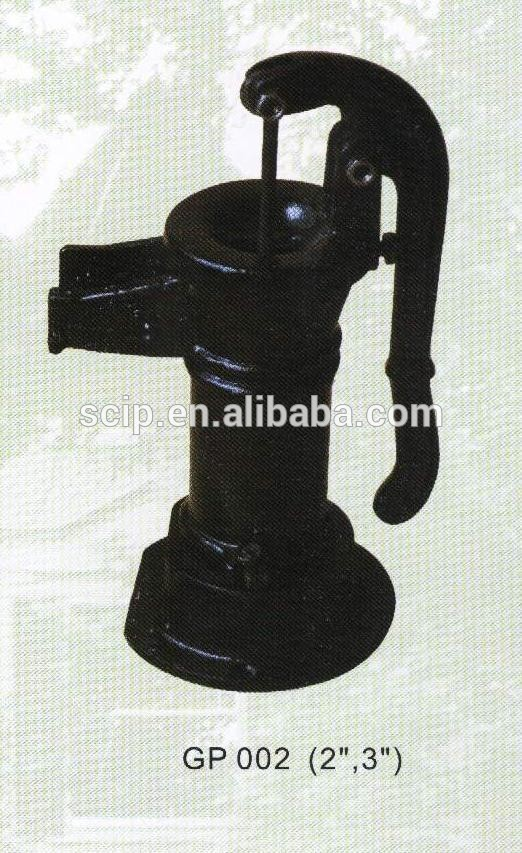 High quality hot sale antique black painted cast iron garden pump
