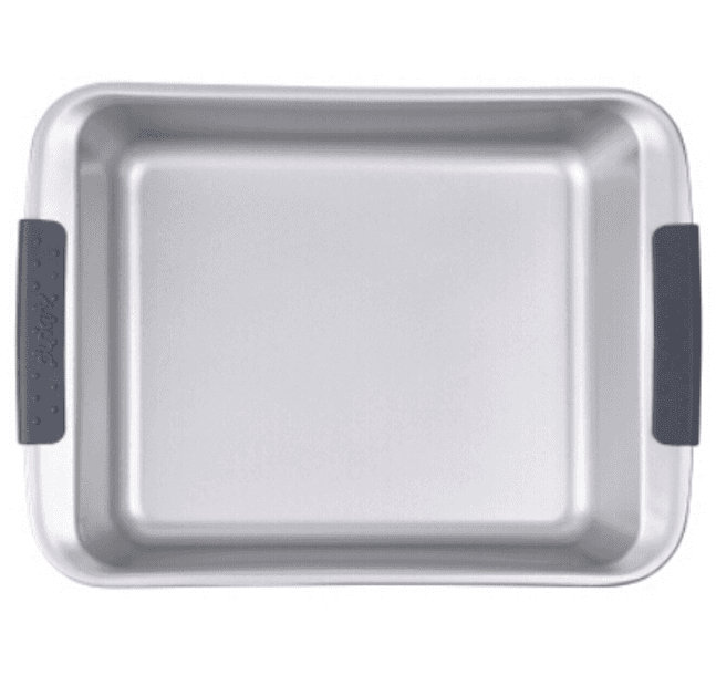 new design non-stick carbon steel bake pan with silicon handle