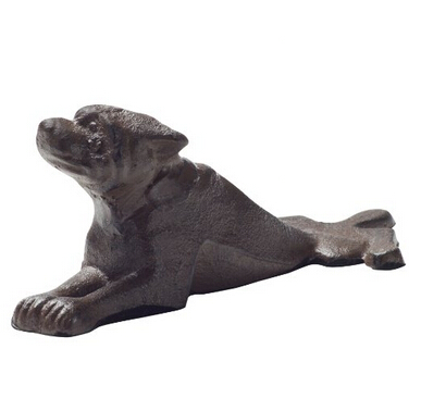 Vintage Cast Iron Dog Door Stop Wedge Featured Image