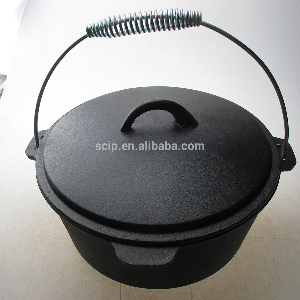 High quality outdoor camping cast iron pre-seasoned dutch oven