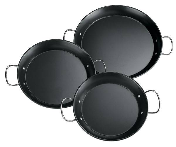 non-stick carbon steel paella pan