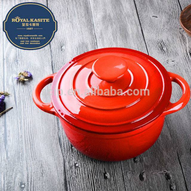 2016 New Cast Iron 24cm Dia. Gradully Cookware Casserole Pot