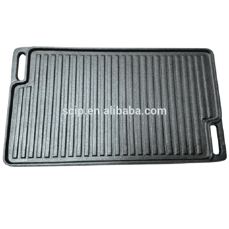 square vegetable oil cast iron griddle pan