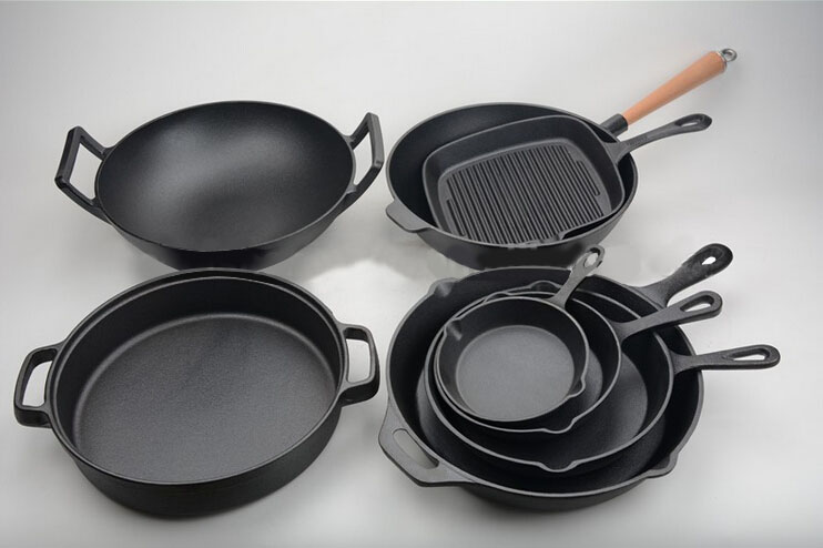 hot sale cast iron cookware sets