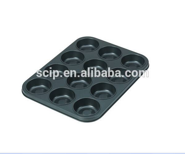 high quality cheap carbon steel muffin pan 12 cups