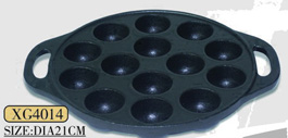Pre-seasoned Most popular cast iron bakeware / cake pan