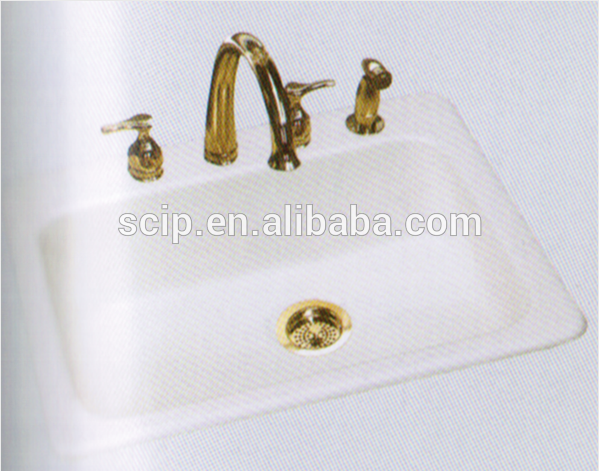 white color enameled cast iron wash basin for sale