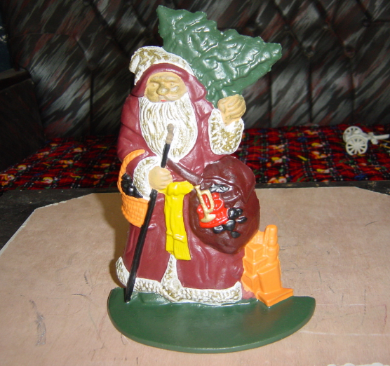 XG309 cast iron door stop for sale Santa Claus